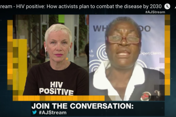 Dignitas' Alice Kadzanja joins high-profile AIDS activist Annie Lennox on The Stream
