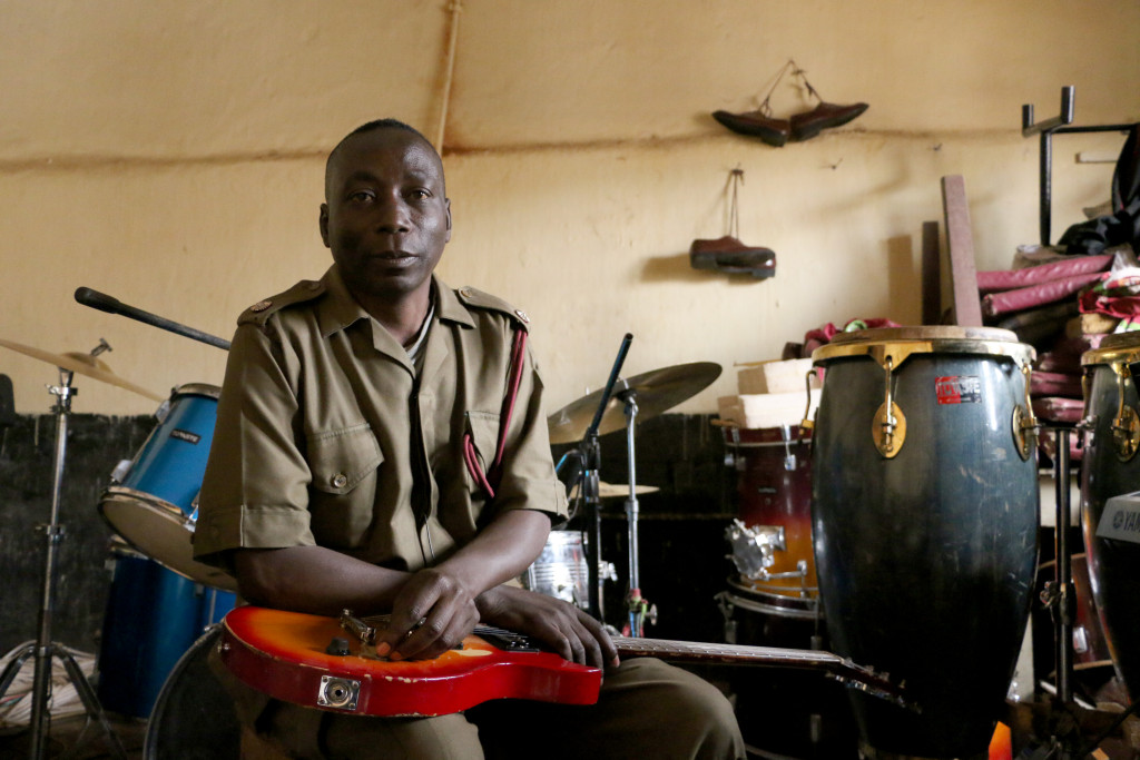 Prison Inspector Thomas Binamo is the band leader and a driving force behind the Zomba Prison Project.